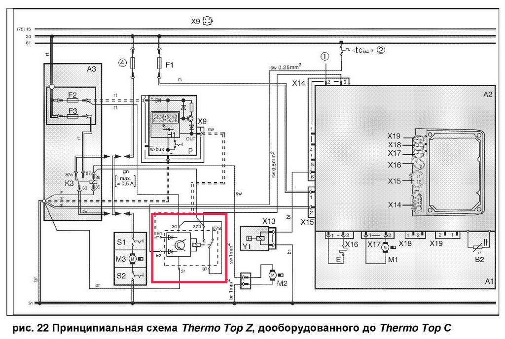Webasto wiring diagram parts